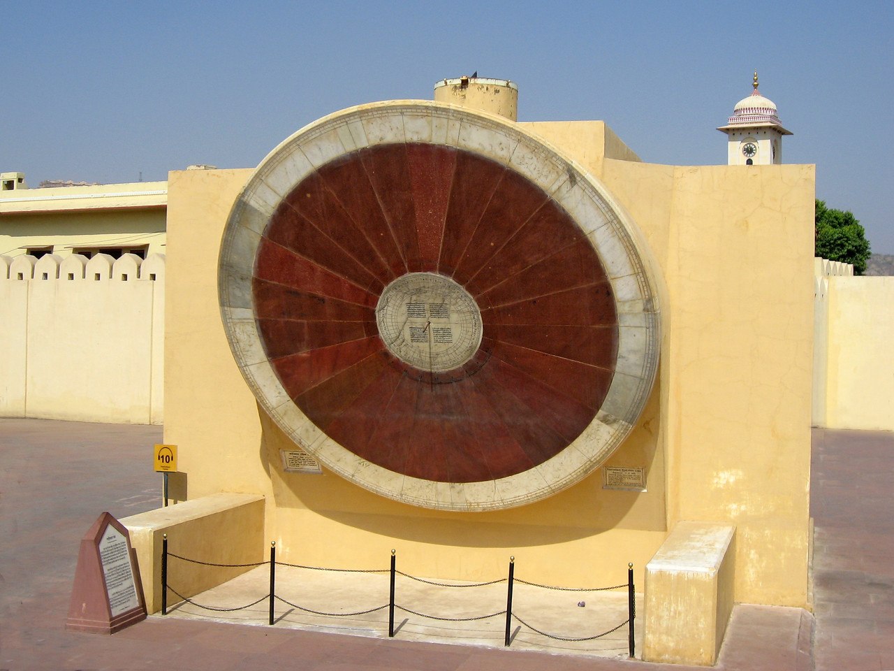 Jantar Mantar, the astronomical and astrological observatory built between 1727 and 1734.  Today, the sun dials remain remarkably accurate.