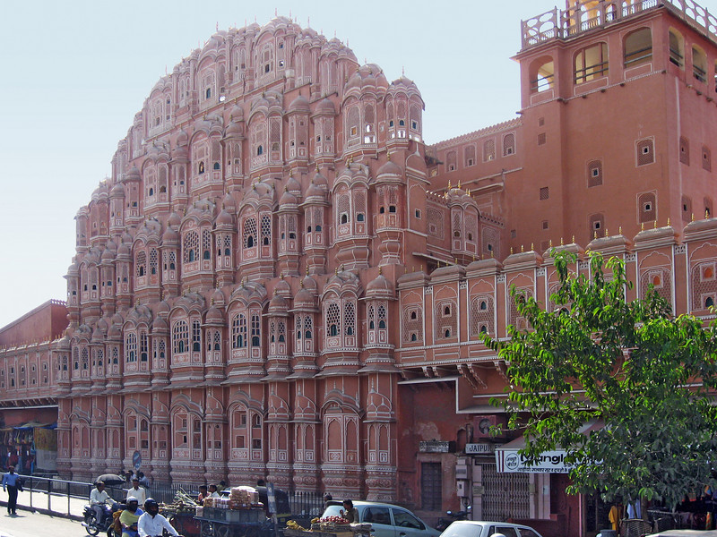 The most famous building fascade in Jaipur