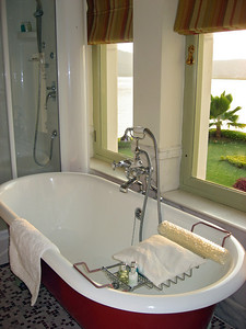 The tub and the view
