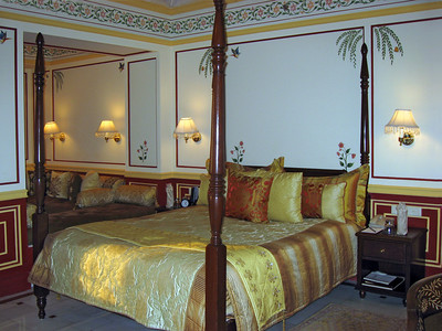 The room at Lake Palace Hotel