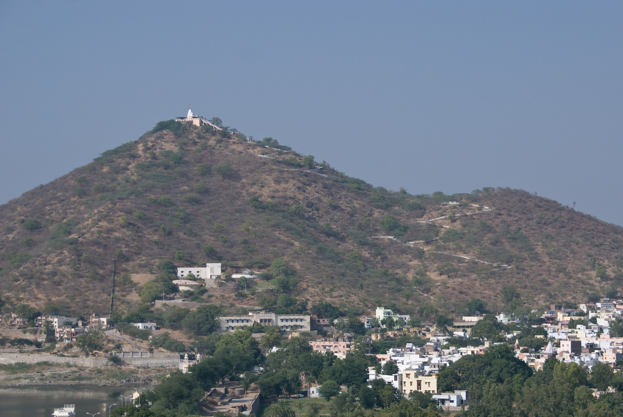 A temple on a hill in Udaipur.
