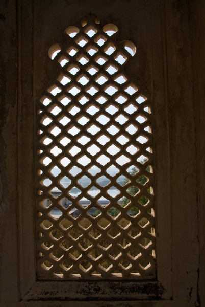 Intricately carved windows all around the palace.