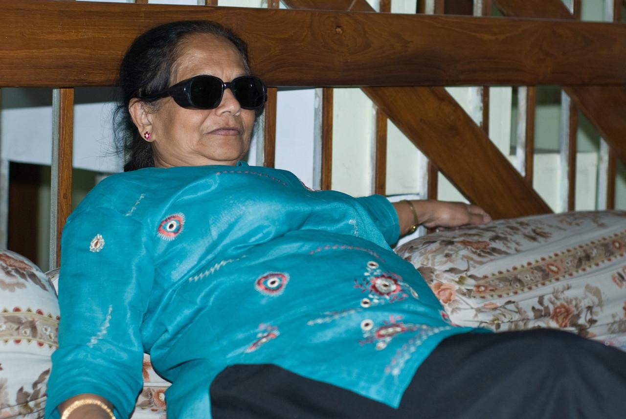 Mom, post cataract procedure.