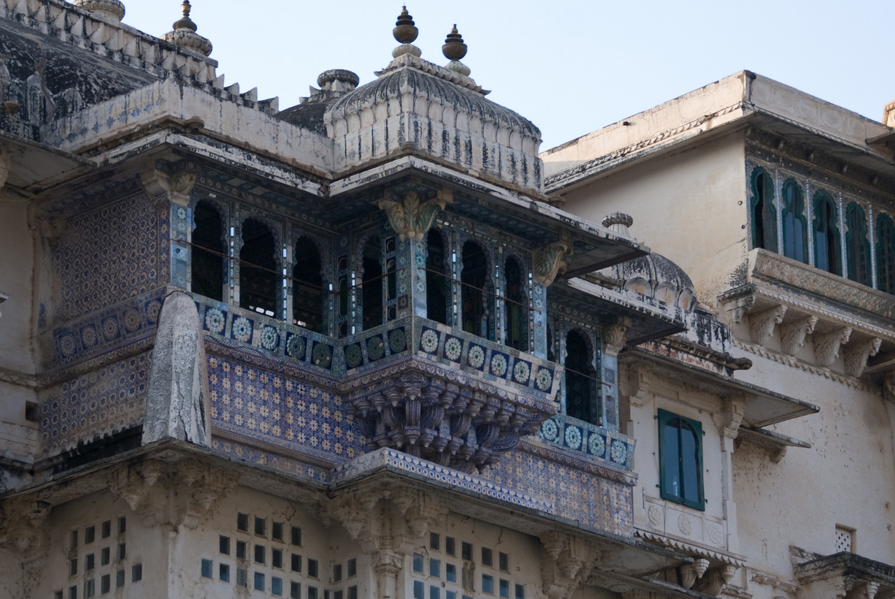 The next balcony over, with a different design.