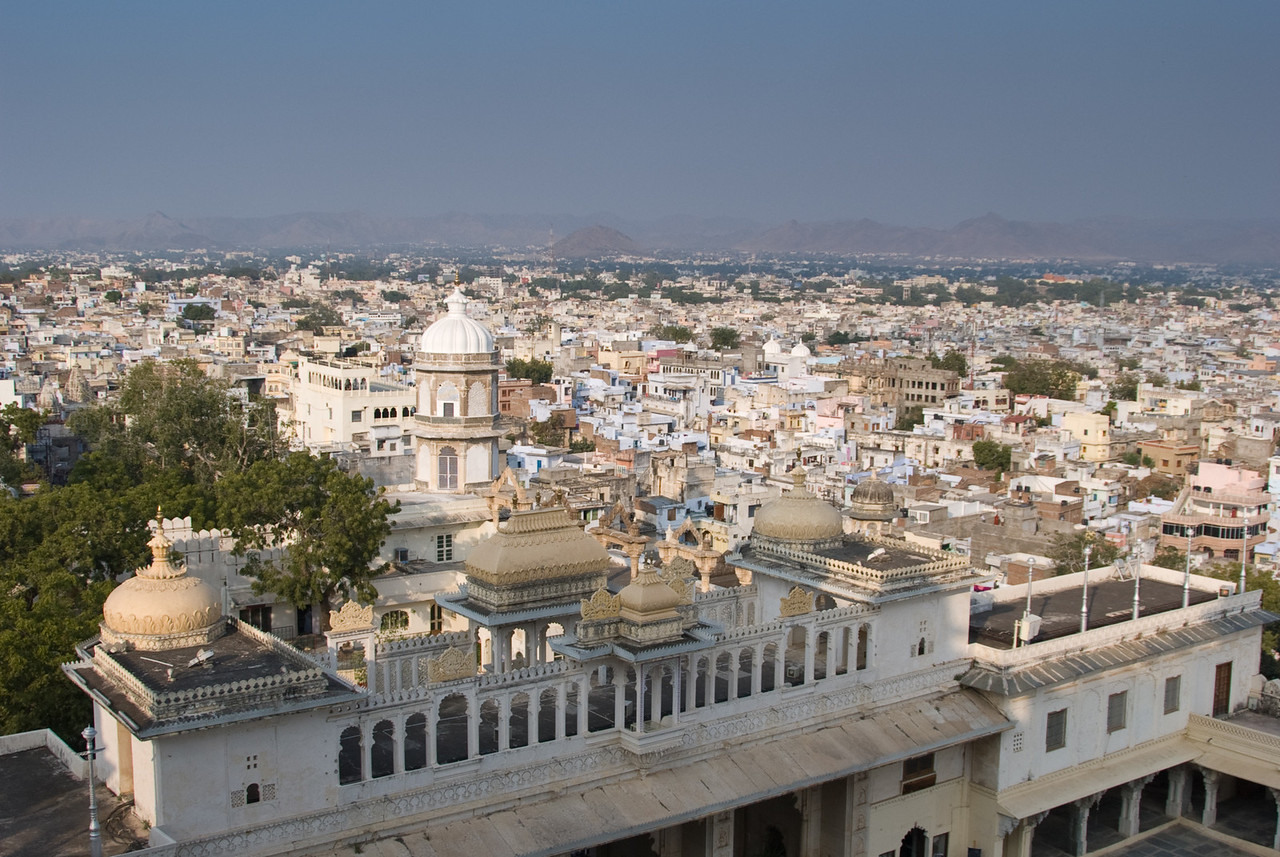 A view of Udaipur from the palace.