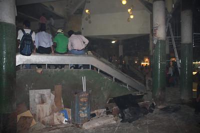 underground mall under construction