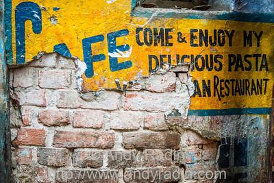 Crumbling wall textures, Varanasi, India