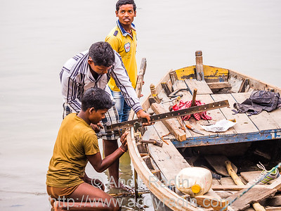 Boatmen, Varanasi, India