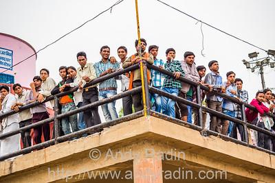 Watching cricket, Varanasi, India
