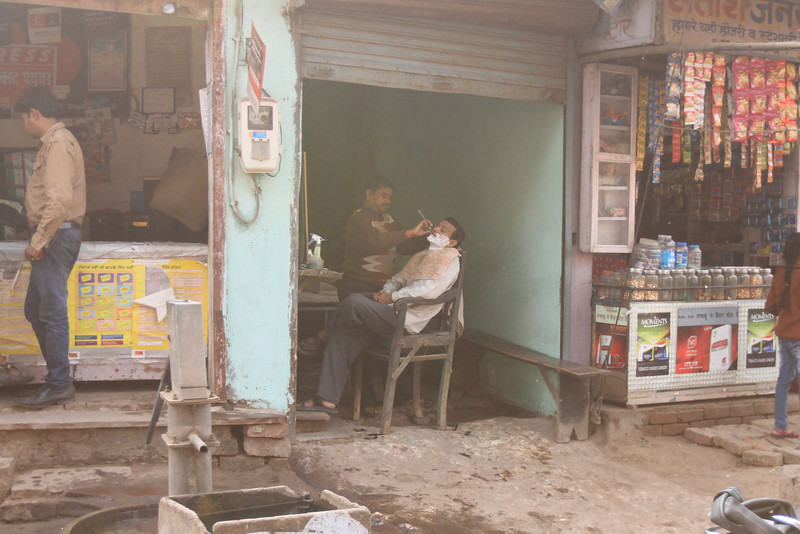 Trip to Agra - Barber stall