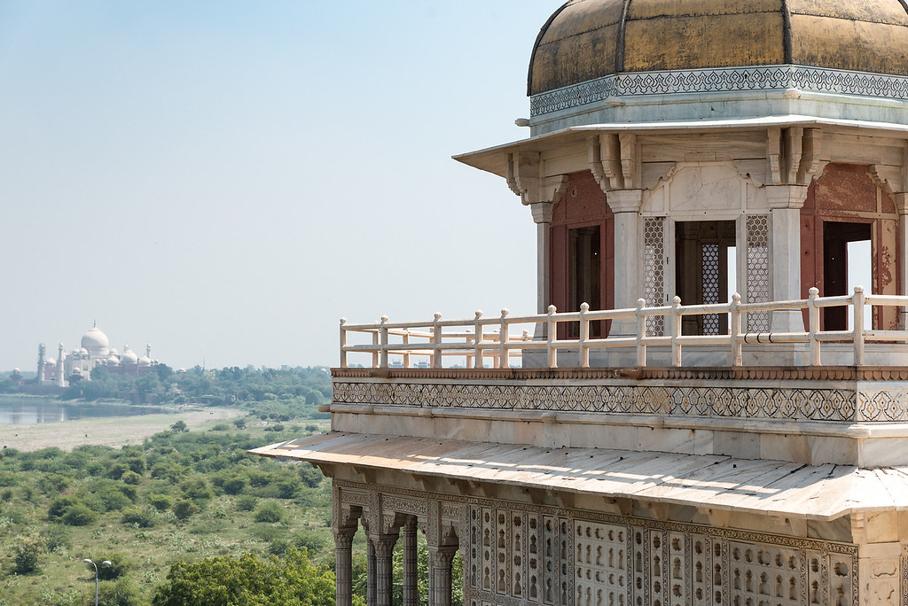 View of the Taj Mahal from the Agra Fort