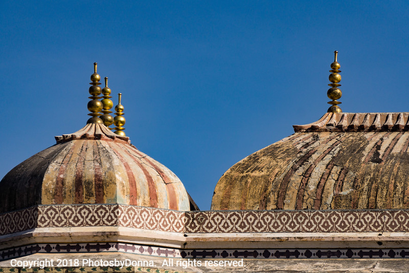 Domes in Amer Fort