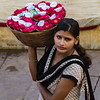 Flower Girl during Aarti Ceremony