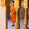 Visitor to Amer Fort