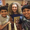 Ashish, Sarah and Akhil are ready for their biryani!