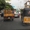 Our first of many adventures in Indian traffic...