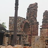 The iron pillar of Delhi is a 7 m (23 ft) column in the Qutb complex at Mehrauli in Delhi, India. It is notable for the rust-resistant composition of the metals used in its construction.