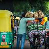 A typical street scene in New Delhi.