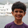 The Lake Palace made for a nice backdrop for Ashish.  :)