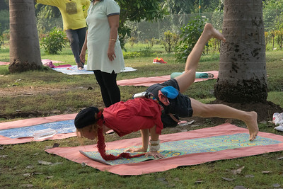 Yoga in the park, Lodhi Gardens