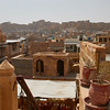 View of Jaiselmer fort from rooftop cafe