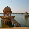 Temples in the lake at Jaiselmer