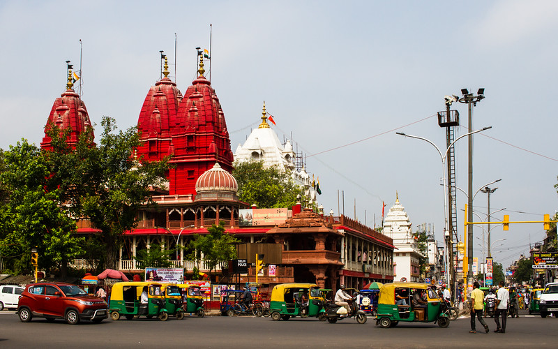 Jain temple across from Red Fort, Delhi