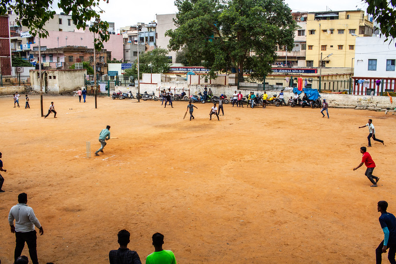 Cricket match in Bangalore
