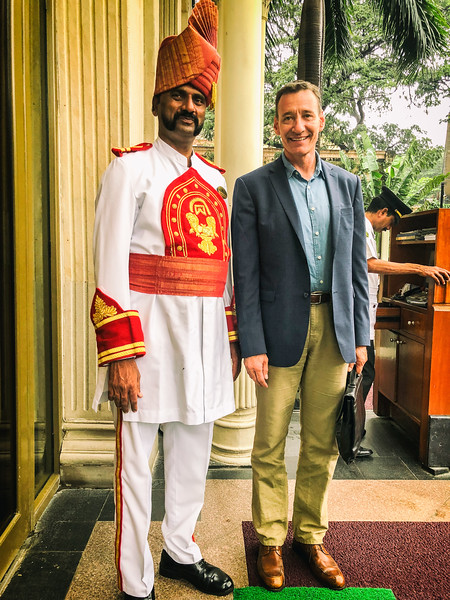 At the Taj Hotel in Bombay