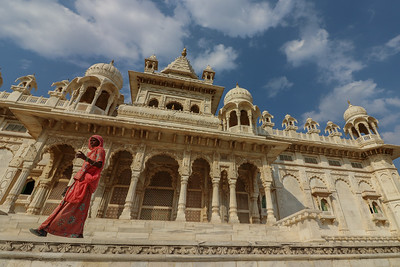 The Jaswant Thada White Temple Palace is made entirely out of white Makrana marble.