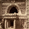 Cave No. 19 facade in 1880, photographed by Raja Deen Dayal.