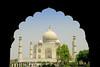 The Taj Mahal, Goa, India, April 2008. 41 degrees celsius!