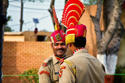 Closing the border ceremony, Wagah.