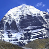 Mt. Kailash, in Tibet, is sacred to Hindus and Buddhists (Wiki photo).