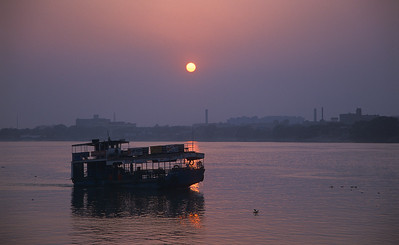 Sunset over the Hoogli river, Kolkata.