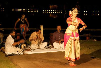 Classical Indian dance, Kumarakom, Kerala.