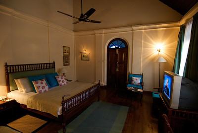 My room in the Taj Garden Retreat hotel, Kumarakom, Kerala.