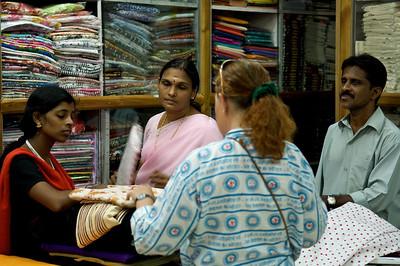Olga buying some tissues, Cochin, Kerala.