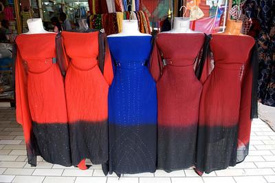 Saris on display, Cochin, Kerala.