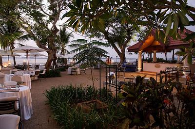 Outside dining, Taj Malabar hotel, Cochin, Kerala.