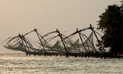 Chinese fishing nets, Cochin, Kerala.