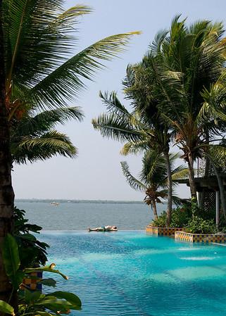 Swimming pool in the Taj Malabar hotel, Cochin, Kerala.