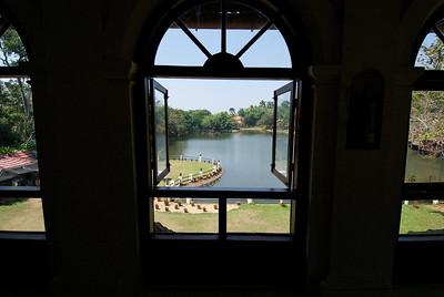View from my room in the Taj Garden Retreat hotel, Kumarakom, Kerala.