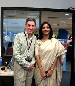 Tom with Indrani, who has been driving the WNS CMM Level 5 efforts.