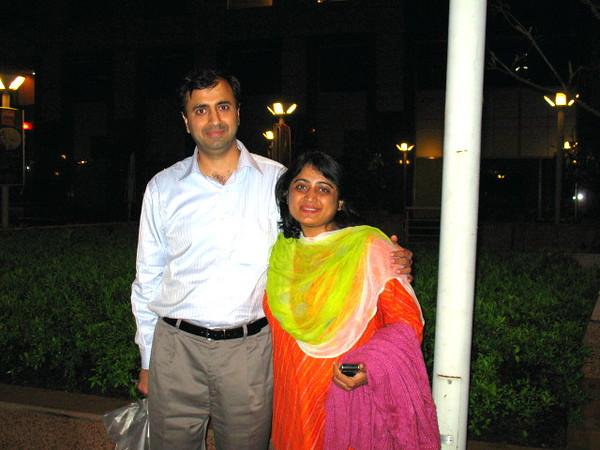 I spent a wonderful evening with Kamal and Manju Nagpal.