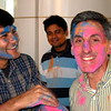 Sumeet Goswami having fun with Tom, Abhishek in the background. No wonder I received strange looks as I went thru airport security that evening!