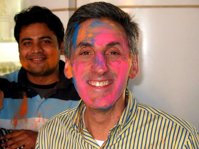 Abhishek and Tom. Can't wait to get to the airport looking like this!