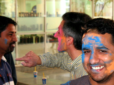 TC giving the color a try on Yogesh.