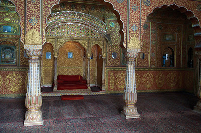 Reception room, Junagarh fort, Bikaner.