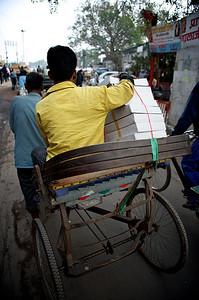 Rickshaw delivery service, Old Delhi.